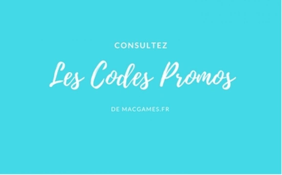 Les code promos MacGames.fr Novembre 2018